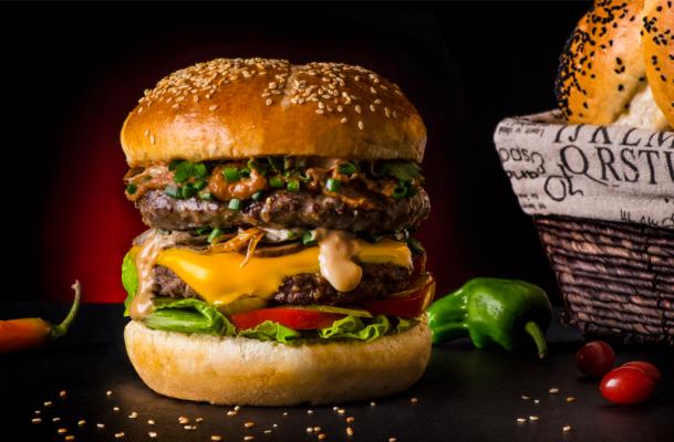 فود کورت,غذا,همبرگر